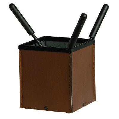 Porta-attrezzi eco-pelle con 3 accessori