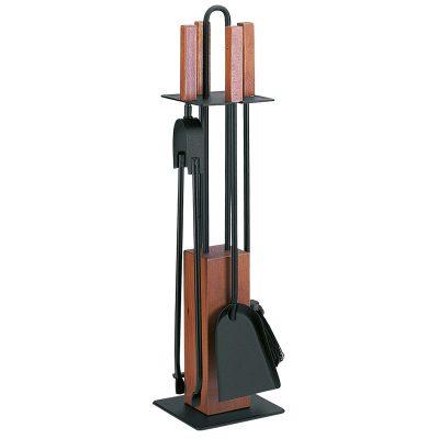 Porta-attrezzi, 4 accessori con legno