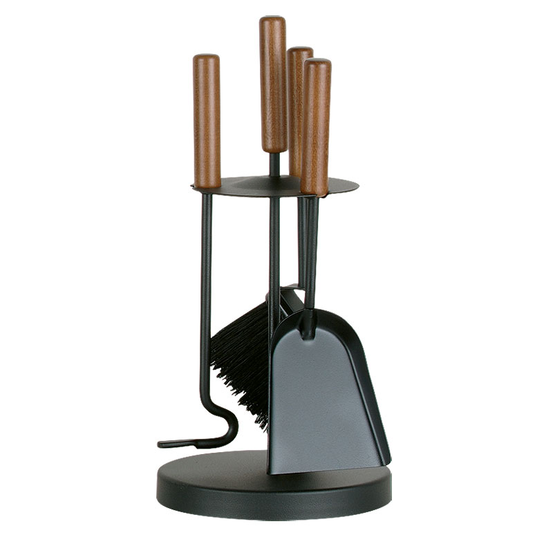 Porta-attrezzi, 3 accessori con manici in legno