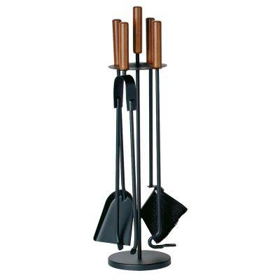 Porta-attrezzi, 4 accessori con manici in legno